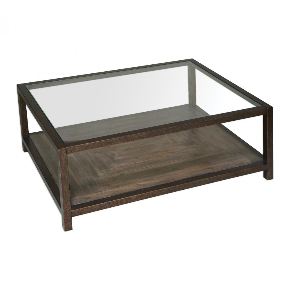 Uttermost Carter Bronze Glass Coffee Table 9x039 Lighting By Design