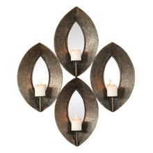 Uttermost 04164 - Uttermost Nina Antique Bronze 4 Candle Sconce