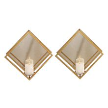 Uttermost 04167 - Uttermost Zulia Gold Candle Sconces, S/2