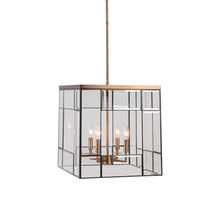 Uttermost 22144 - Uttermost Romilly 4 Light Antique Brass Pendant