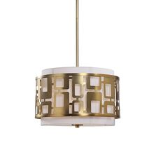 Uttermost 22159 - Uttermost Vecta 3 Light Brass Pendant