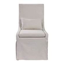 Uttermost 23493 - Uttermost Coley White Linen Armless Chair