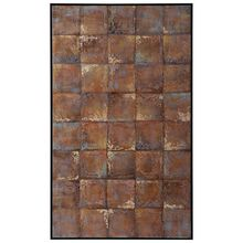 Uttermost 36056 - Uttermost Metallic Tiles Hand Painted Canvas