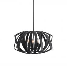 Uttermost 22137 - Uttermost Thales Black Geometric 3 Light Pendant